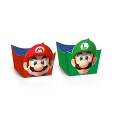 Cromus Super Mario Bros - Forminha para Doce Cachepô 24 unidades