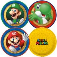 Cromus Super Mario Bros - Prato Redondo 18cm 08 unidades